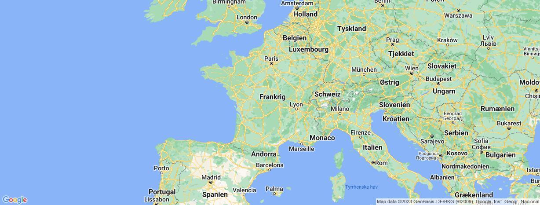 Kort over Frankrig