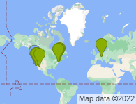 Map of the places this user has lived